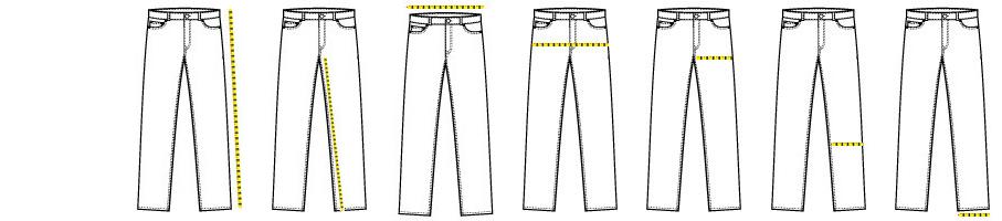 Ghid de mărimi Pantaloni SlimFit