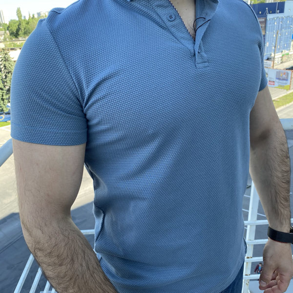 Tricou cu guler pentru barbati