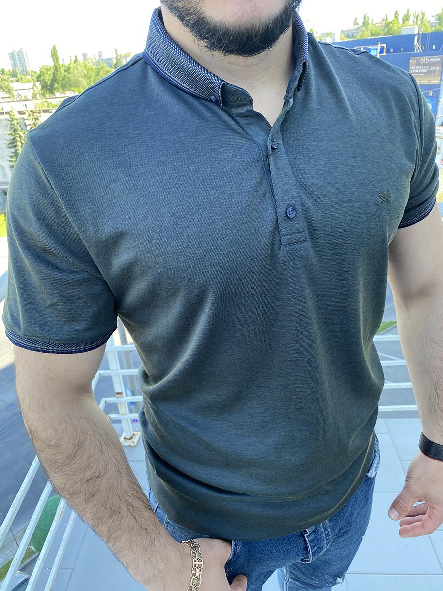 Tricou cu guler pentru barbati 2XL 3XL 4XL 5XL